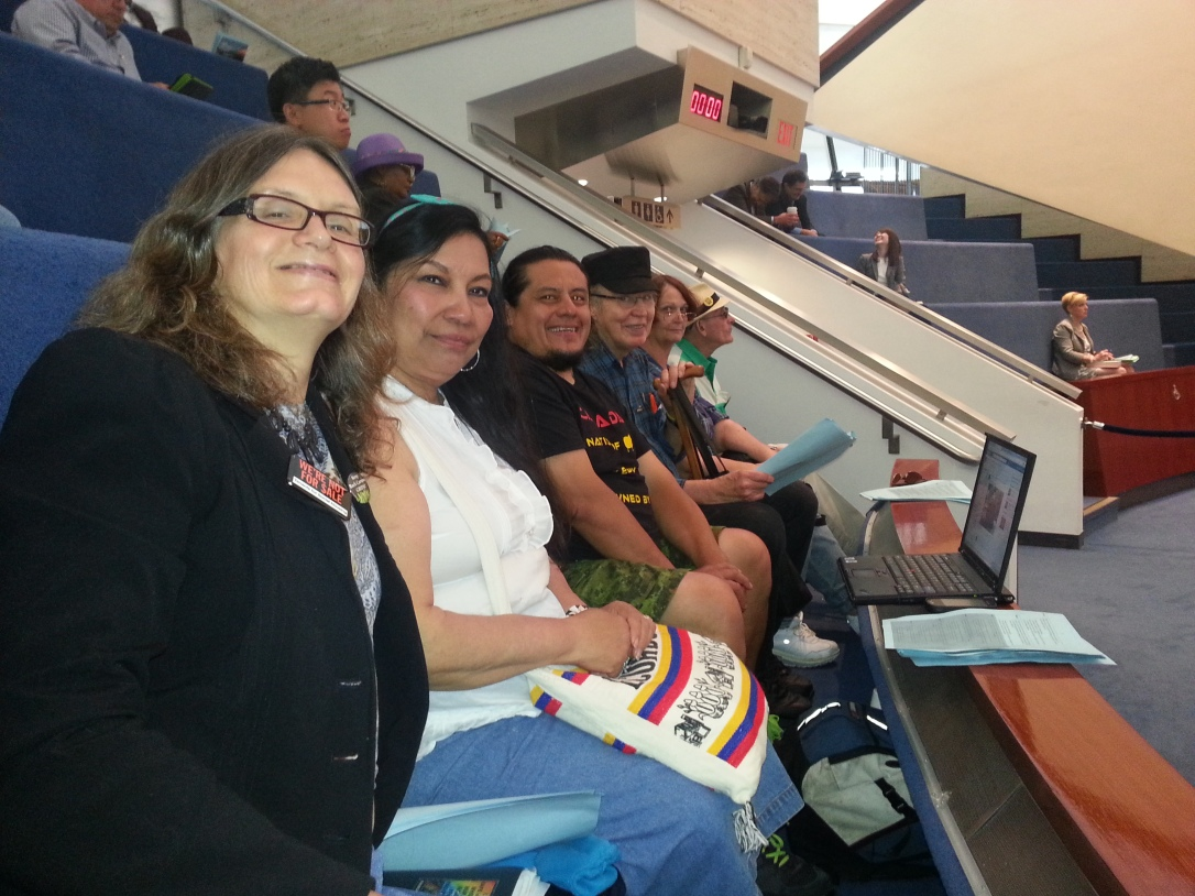 "T4SH members at City Council (June 12, 2013) for the release of the Ombudsman's report ""Housing At Risk"""