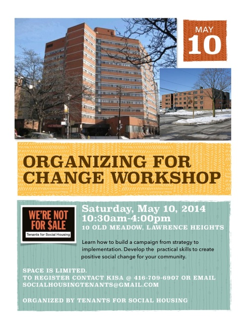May 5 Organizing for change workshop